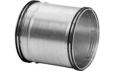 Muffe og nippel til cirkulær ventilationskanal