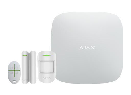 Solar plus ajax alarm-kit, hvid