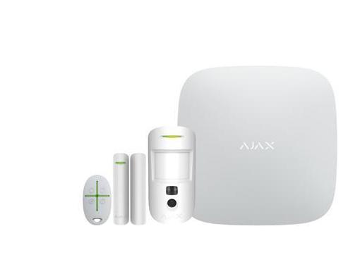 Solar plus ajax alarm-2 kit, hvid