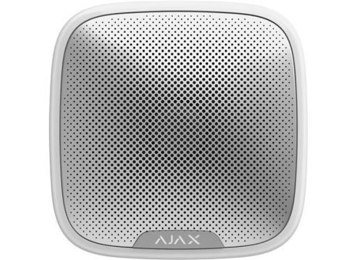 Ajax Sirene udendørs med blitz, ip54, streetsiren, hvid