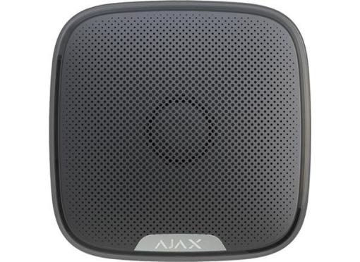 Ajax Sirene udendørs med blitz, ip54, streetsiren, sort