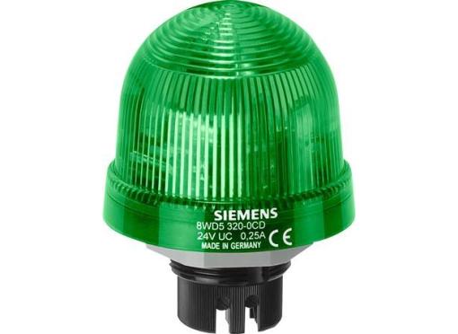 Siemens Indbyg permanent lys 24V grøn