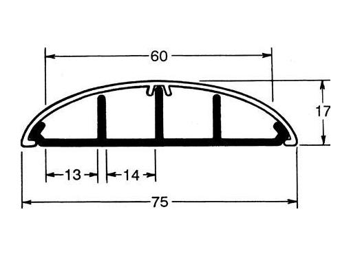 Hager Kabelkanal med buetlåg sl18x75 lysegrå