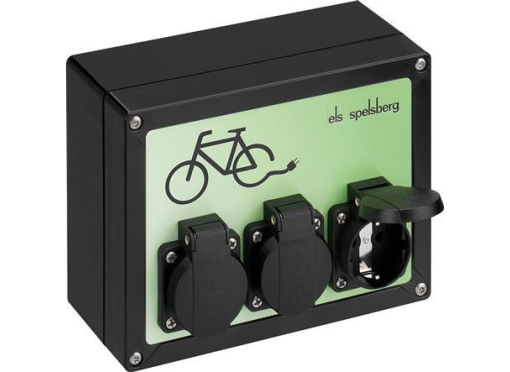Spelsberg Cykelladestation 3 x Schuko stikdåser