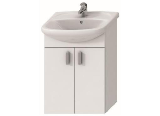 Vaskeskab med låger & vask 53x42 cm