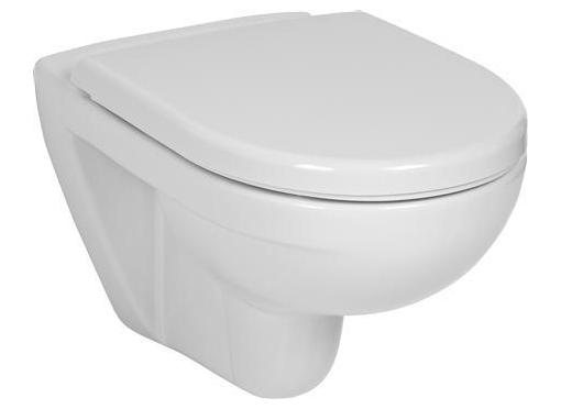 Væghængt toilet, Hvid, D:53cm B:36cm