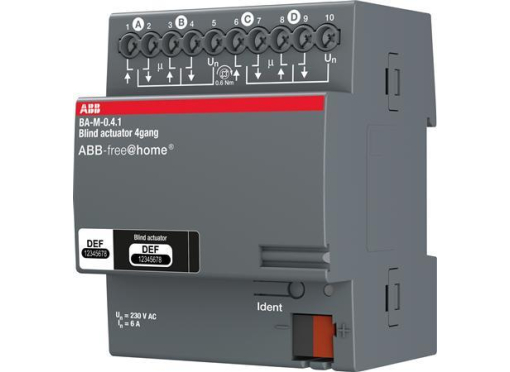 ABB Aktuator motorstyring 4x6a (AC 3) din4M