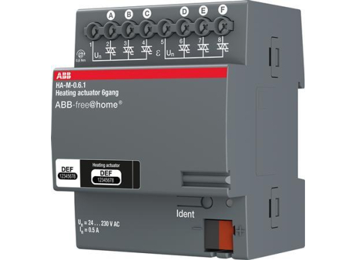 ABB Aktuator varmestyring 6x160ma din4M