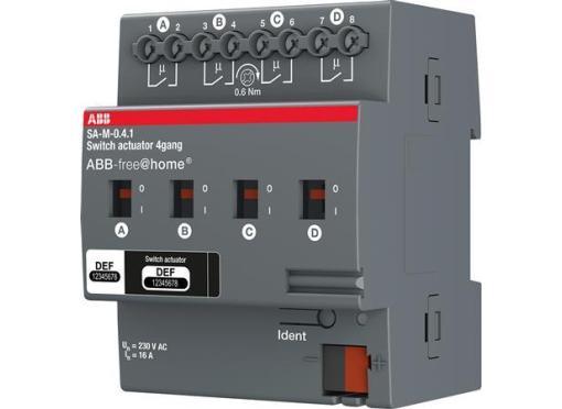 ABB Aktuator relæ 4x16A (AC 1) din4M