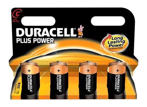 Duracell Batteri plus mn1400 c 4 stk