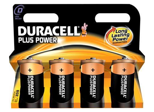 Duracell Batteri plus mn1300 d 4 stk