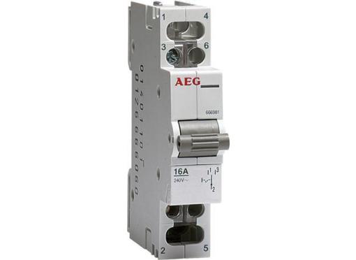 Omskifter 1-0-2 16A 240V AC DIN