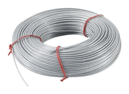 Denwire Wire 3MM med PVC kappe i ring