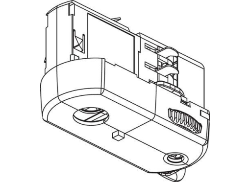 Adaptor 3-f sort u/tilbehør