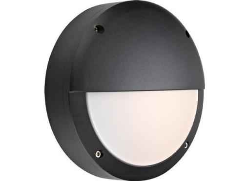 Hero LED Skotlampe halvskærm 8W, sort