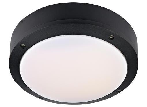 Luna plafond udendørs lampe 12W, sort