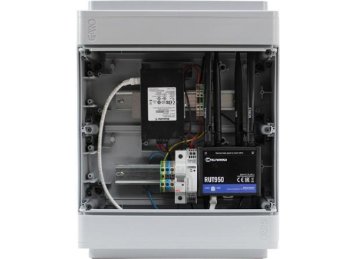 Kommunikationsbox router+switch 9 port