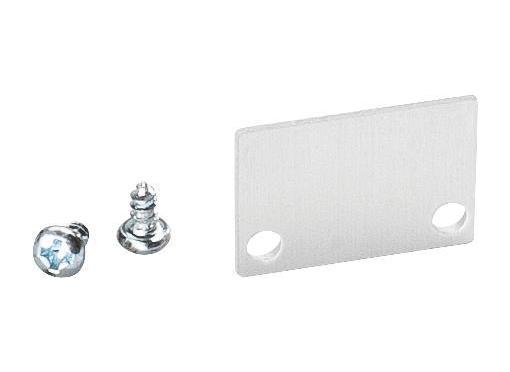 Endedæksel u-profil lav Aluminium 2 stk