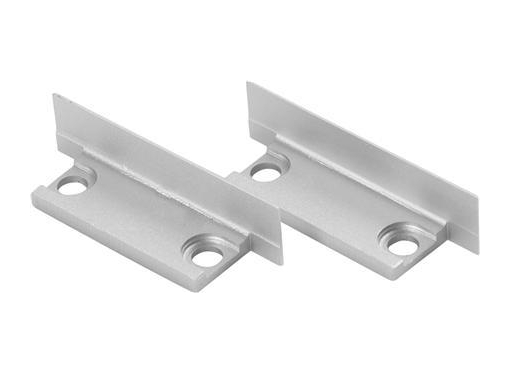 Endedæksel thin Aluminium 2 stk