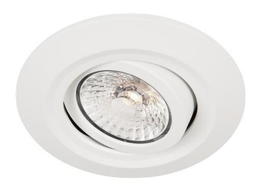 Comfort Quick 6W/830 indbygningsspot kipbar Ø95 hvid