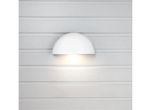 Arc udendørslampe 2 x Schuko udtag7w/830 hvid