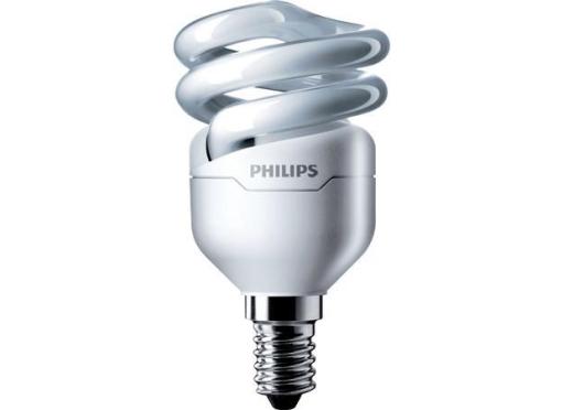Philips Energisparepære Tornado spiRAL 8w/827 e14 (45w)