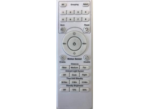 Remote contr. upload 250/400 adj. sensor